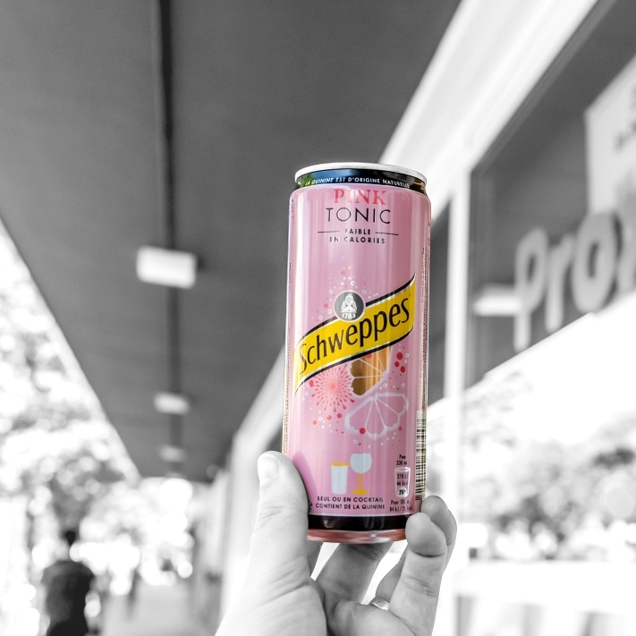 Schweppes at food delivery and supermarket